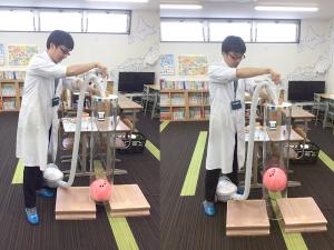 空気砲の実験