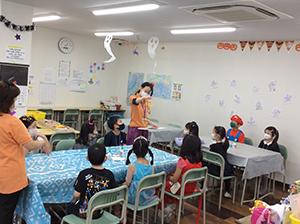 放課後クラブ北浦和校 秋フェス2020 ハロウィンコースター作り
